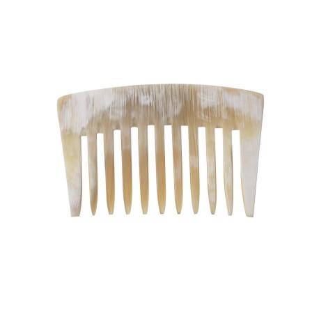 Peigne en corne Ariégeois court dents larges
