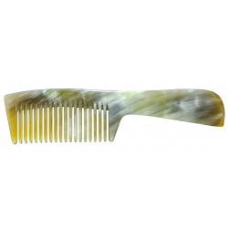 Peigne en corne Ariégeois manche à dents normales larges